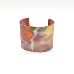Fire Painted Copper Cuff
